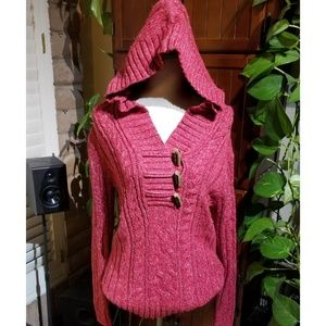 Old Navy Brand Hooded Wool Blend Sweater